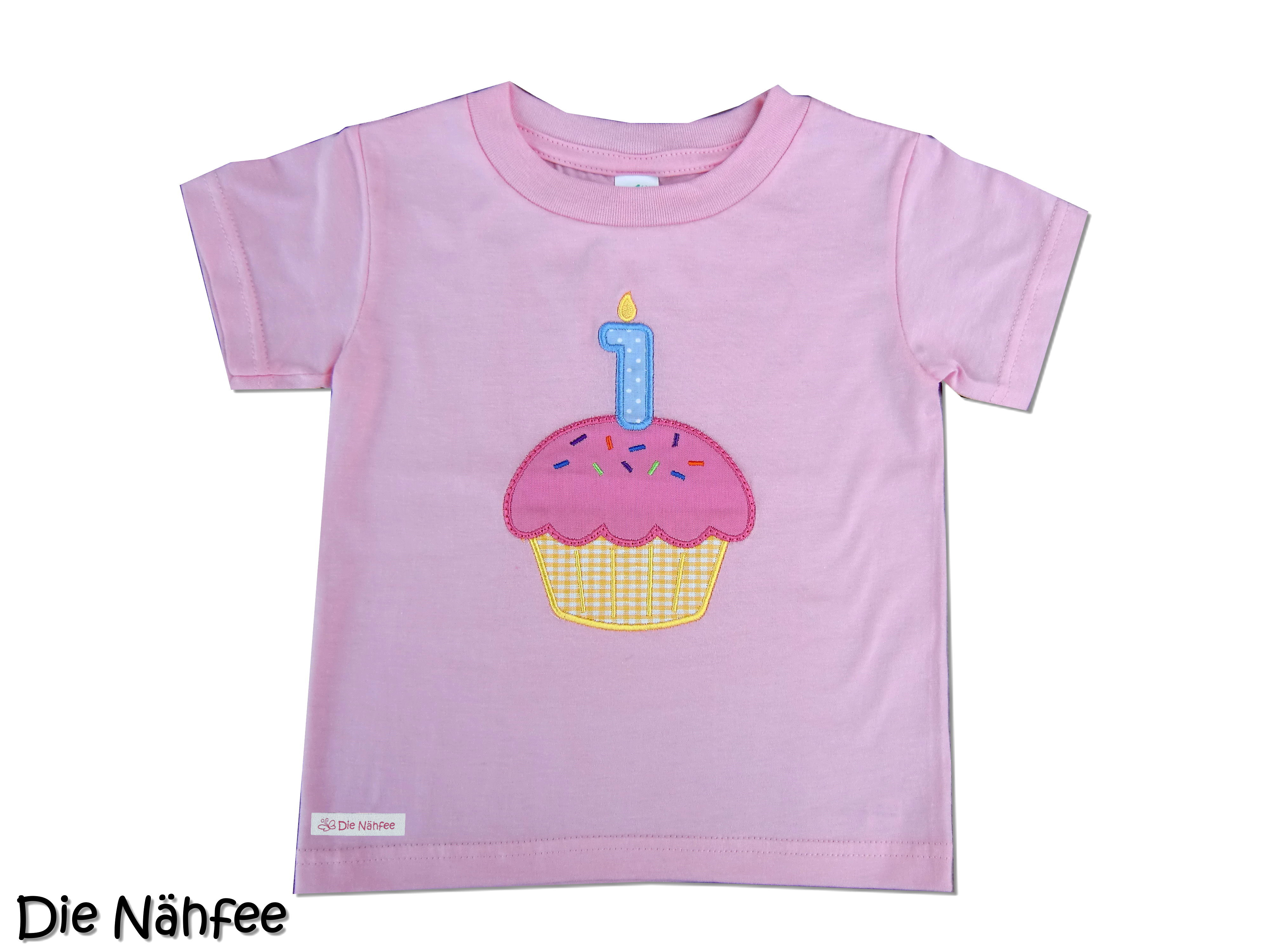 Die Nahfee Cupcake Geburtstagsshirt 1 Geburtstag